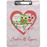 Valentine Owls Clipboard (Personalized)