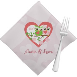 Valentine Owls Napkins (Set of 4) (Personalized)