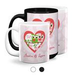 Valentine Owls Coffee Mugs (Personalized)