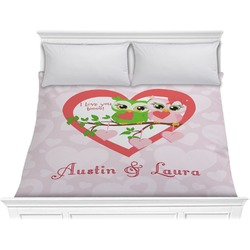 Valentine Owls Comforter - King (Personalized)