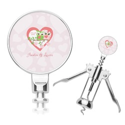 Valentine Owls Corkscrew (Personalized)