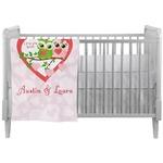 Valentine Owls Crib Comforter / Quilt (Personalized)