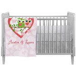 Valentine Owls Crib Comforter / Quilt (Personalized)