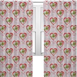 Valentine Owls Curtains (2 Panels Per Set) (Personalized)