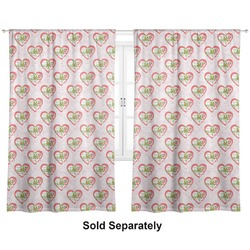 "Valentine Owls Curtains - 40""x84"" Panels - Unlined (2 Panels Per Set) (Personalized)"