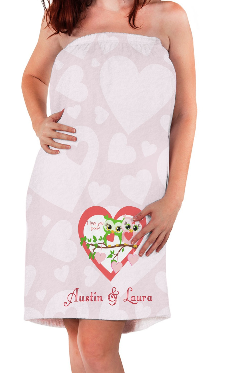 Valentine Owls Bath Wrap Personalized Youcustomizeit