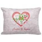"Valentine Owls Decorative Baby Pillowcase - 16""x12"" (Personalized)"
