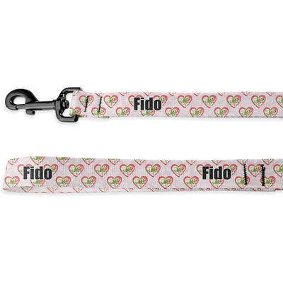 Valentine Owls Deluxe Dog Leash (Personalized)