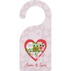 Valentine Owls Door Hanger (Personalized)