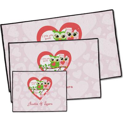 Valentine Owls Door Mat (Personalized)