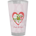 Valentine Owls Drinking / Pint Glass (Personalized)