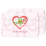 Valentine Owls Dish Drying Mat (Personalized)