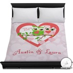 Valentine Owls Duvet Cover (Personalized)