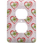 Valentine Owls Electric Outlet Plate (Personalized)