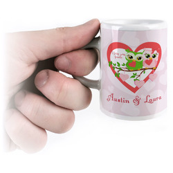 Valentine Owls Espresso Cups (Personalized)