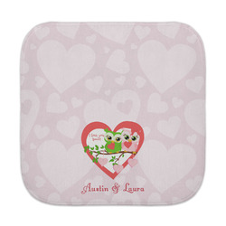 Valentine Owls Face Towel (Personalized)