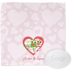 Valentine Owls Wash Cloth (Personalized)