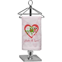 Valentine Owls Finger Tip Towel - Full Print (Personalized)