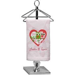 Valentine Owls Finger Tip Towel - Full Print (Personalized)