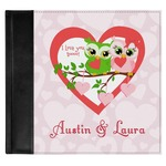 Valentine Owls Genuine Leather Baby Memory Book (Personalized)
