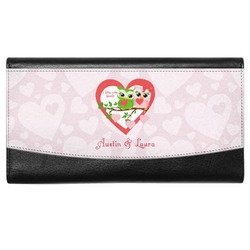 Valentine Owls Genuine Leather Ladies Wallet (Personalized)