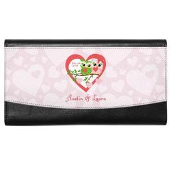 Valentine Owls Genuine Leather Ladies Wallet (Personalized)
