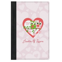 Valentine Owls Genuine Leather Passport Cover (Personalized)
