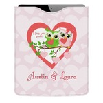 Valentine Owls Genuine Leather iPad Sleeve (Personalized)