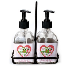 Valentine Owls Soap/Lotion Dispensers (Glass) (Personalized)