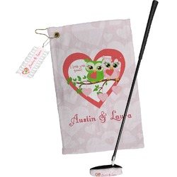 Valentine Owls Golf Towel Gift Set (Personalized)