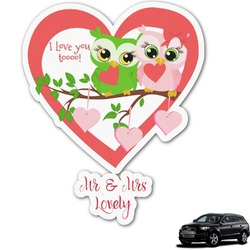 Valentine Owls Graphic Car Decal (Personalized)