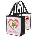 Valentine Owls Grocery Bag (Personalized)