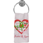 Valentine Owls Hand Towel - Full Print (Personalized)