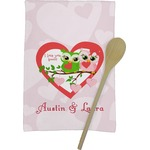 Valentine Owls Kitchen Towel - Full Print (Personalized)
