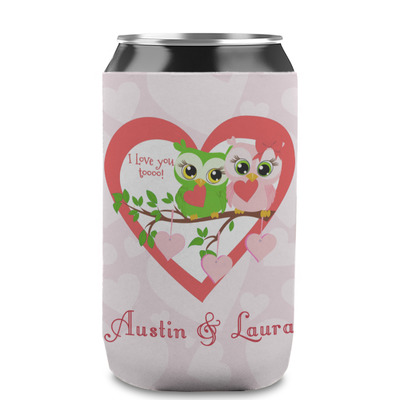 Valentine Owls Can Sleeve (12 oz) (Personalized)