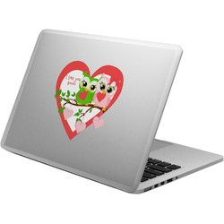 Valentine Owls Laptop Decal (Personalized)
