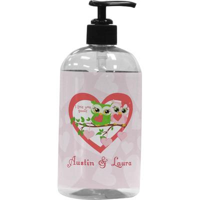 Valentine Owls Plastic Soap / Lotion Dispenser (Personalized)
