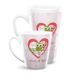 Valentine Owls Latte Mug (Personalized)