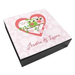 Valentine Owls Leatherette Keepsake Box - 3 Sizes (Personalized)