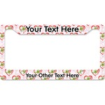 Valentine Owls License Plate Frame (Personalized)