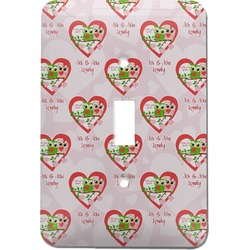 Valentine Owls Light Switch Cover (Single Toggle) (Personalized)