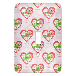Valentine Owls Light Switch Covers (Personalized)