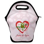 Valentine Owls Lunch Bag w/ Couple's Names