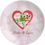 Valentine Owls Melamine Plate (Personalized)