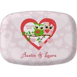 Valentine Owls Melamine Platter (Personalized)
