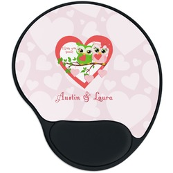 Valentine Owls Mouse Pad with Wrist Support