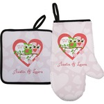Valentine Owls Oven Mitt & Pot Holder (Personalized)