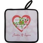 Valentine Owls Pot Holder w/ Couple's Names