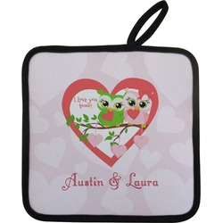 Valentine Owls Pot Holder (Personalized)