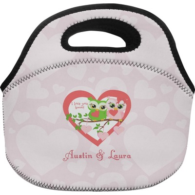 Valentine Owls Personalized Lunch BagLargeRNK Shops